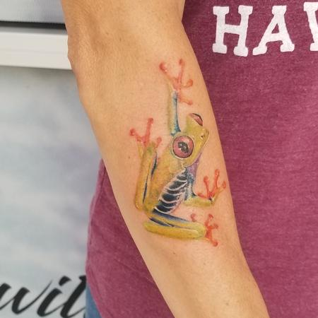 Tattoos - red eyed tree frog - 140066