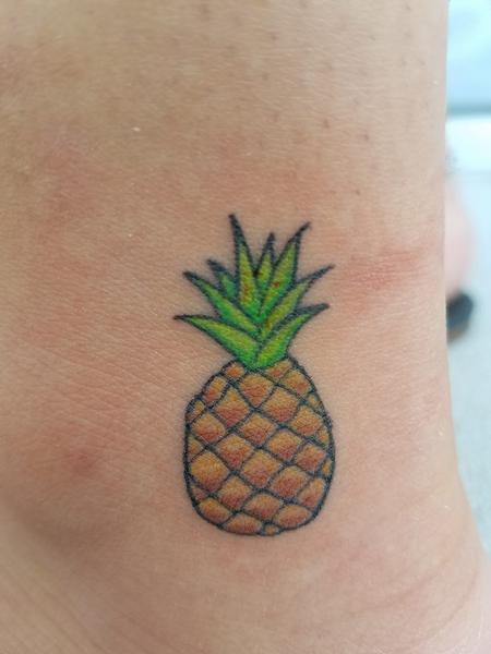 Tattoos - Tiny Pineapple on Ankle - 129356