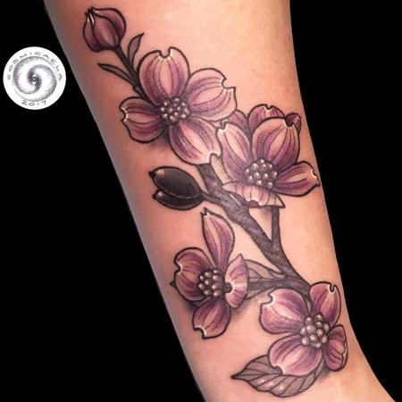 Tattoos - Dogwood Flowers  - 136120