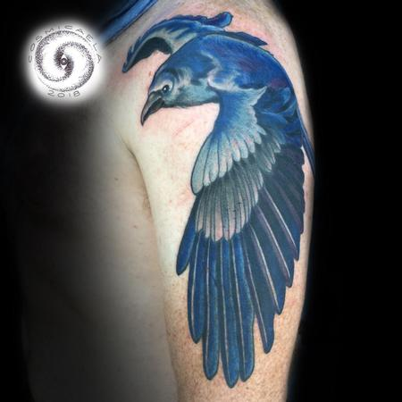 Tattoos - Color Raven  - 133386
