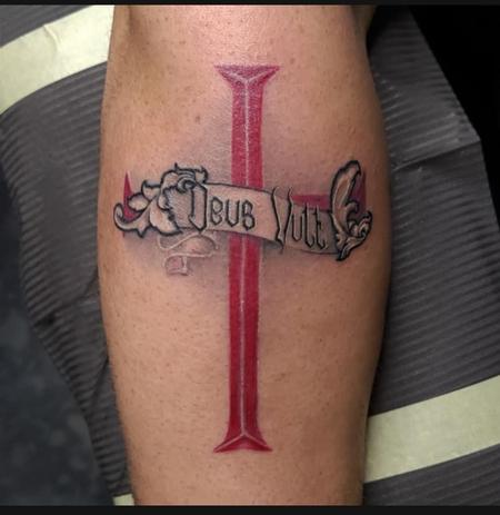 """Deus Vult"" Tattoo Thumbnail"