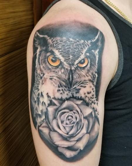Tattoos - Owls and Roses - 137635