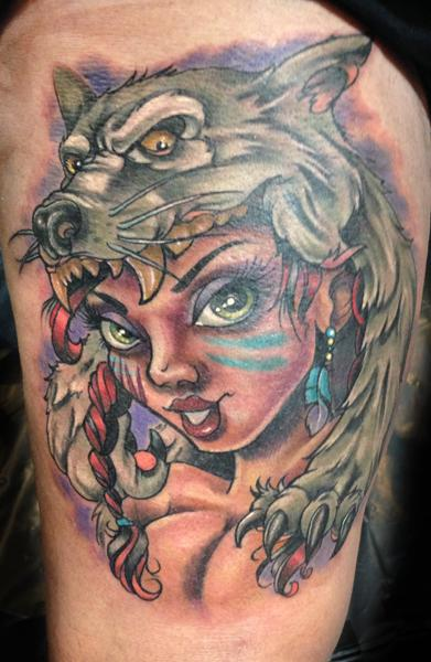 Tattoos - Wolf Headdress  - 87595
