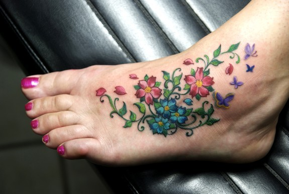 Tattoos - Cherry Foot ! - 50641