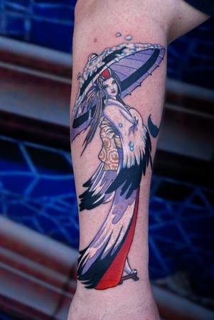 Tattoos - CRANE GEISHA ! - 47369