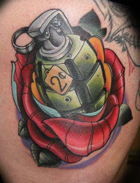 Tattoos - Rose grenade - 78835