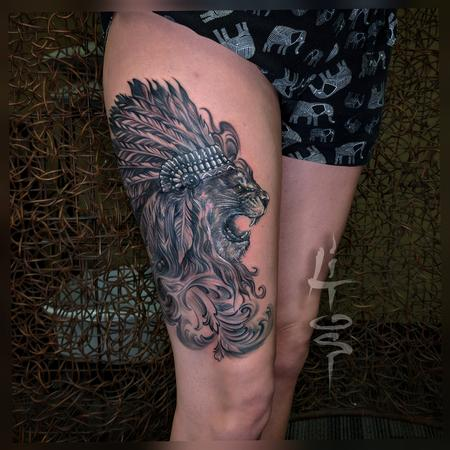 Tattoos - Lion Girl - 138000