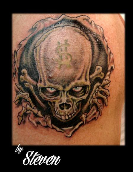 Tattoos - Money Skull - 73964