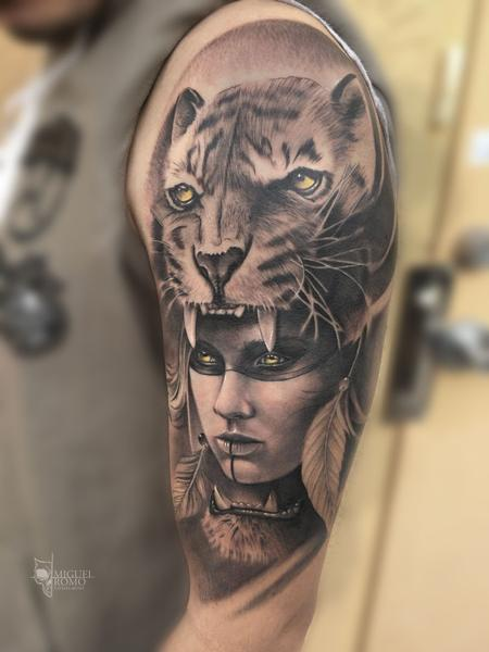 Tiger Woman  Tattoo Thumbnail