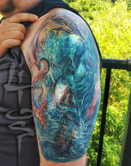 Tattoos - Poseidon Battle - 117853