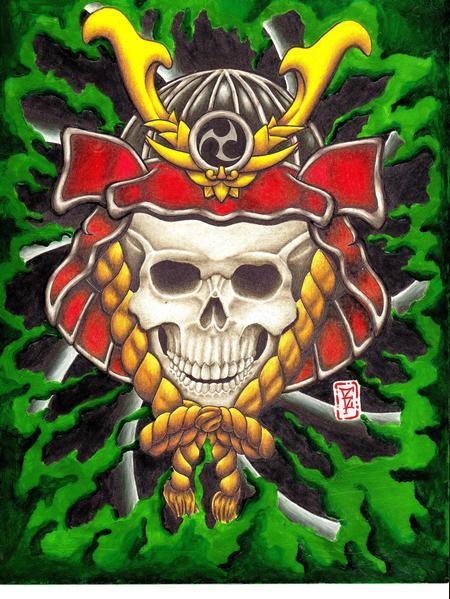 Tattoos - Skull Helmet - 63357