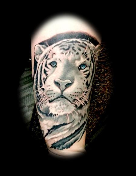 white tiger Tattoo Thumbnail