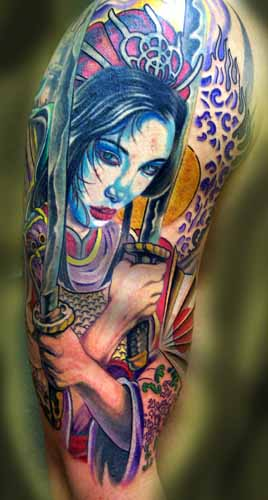Tattoos - SAMURAI GEISHA !! - 21570