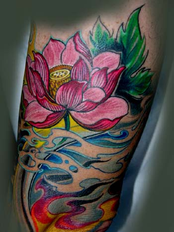 asian flower tattoo. Asian Tattoos, Flower