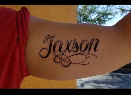 Jaxson Script Tattoo Thumbnail