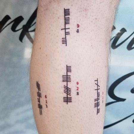 Ogham Alphabet Tattoo Tattoo Thumbnail