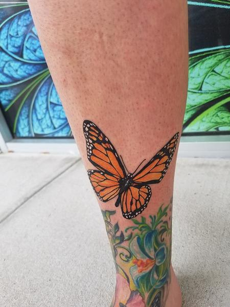 Tattoos - Monarch Butterfly - 129265