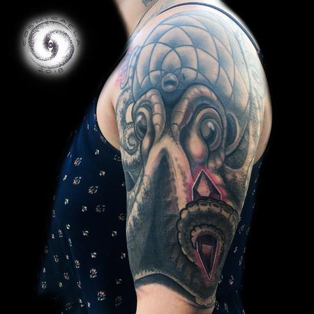Octopus Cover-up Tattoo Thumbnail