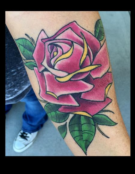 Magenta Rose Tattoo Thumbnail
