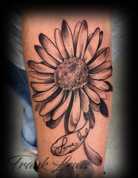 Daisy for Dad Tattoo Thumbnail