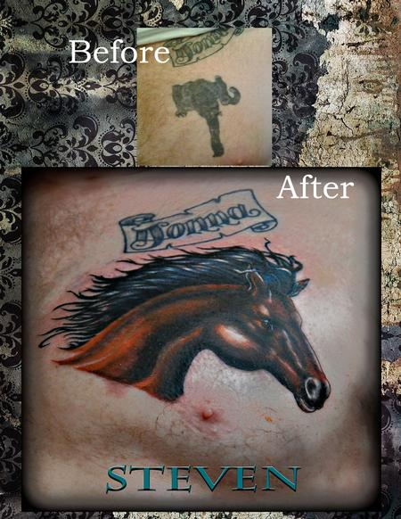 Tattoos - aA Stallion covers it up... - 76540