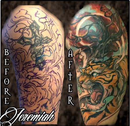 Tiger Cover-up Tattoo Design Thumbnail