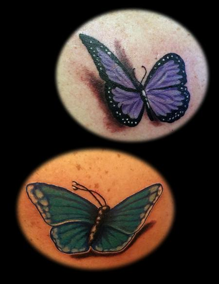Tattoos - Butterfly duo - 114226