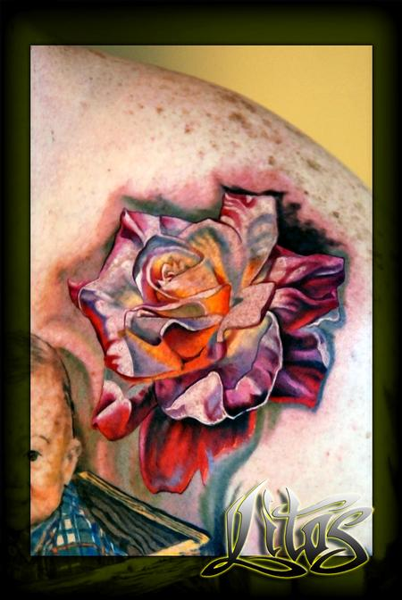 Glowing Rose Tattoo Design Thumbnail