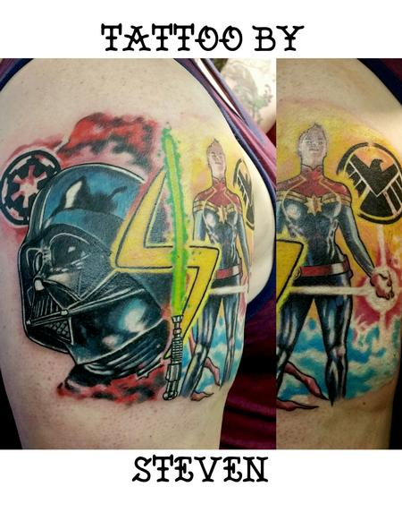 Star wars marvel mashup Tattoo Design Thumbnail