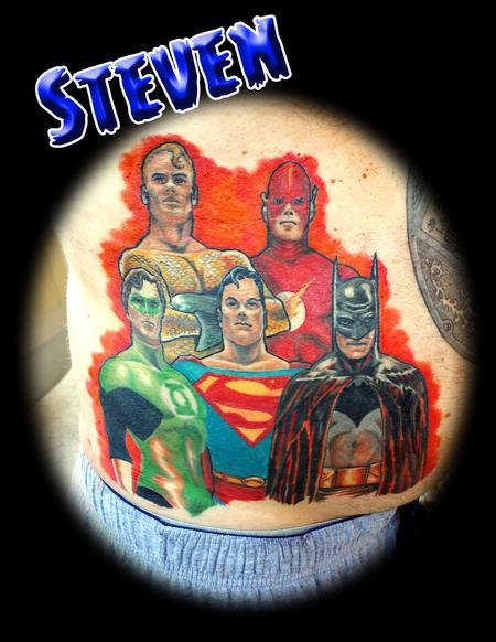 Superfriends Tattoo Design Thumbnail