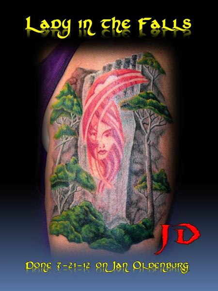 Face in the falls by jd mcgowan tattoonow for Great falls tattoo shops