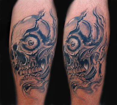 tattoo on black skin. Comments: lack amp; gray tattoo