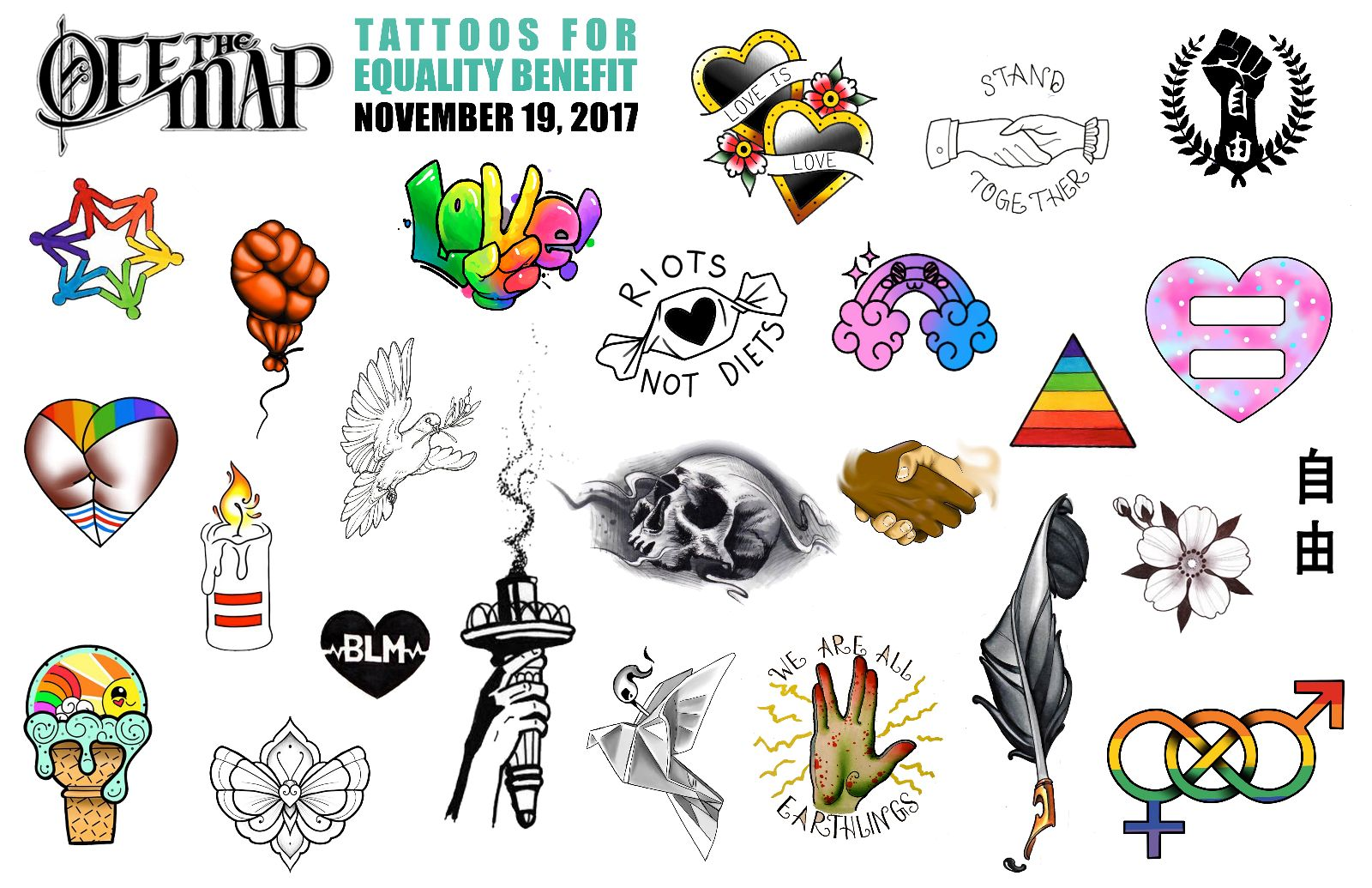 Tattoos for equality benefit day