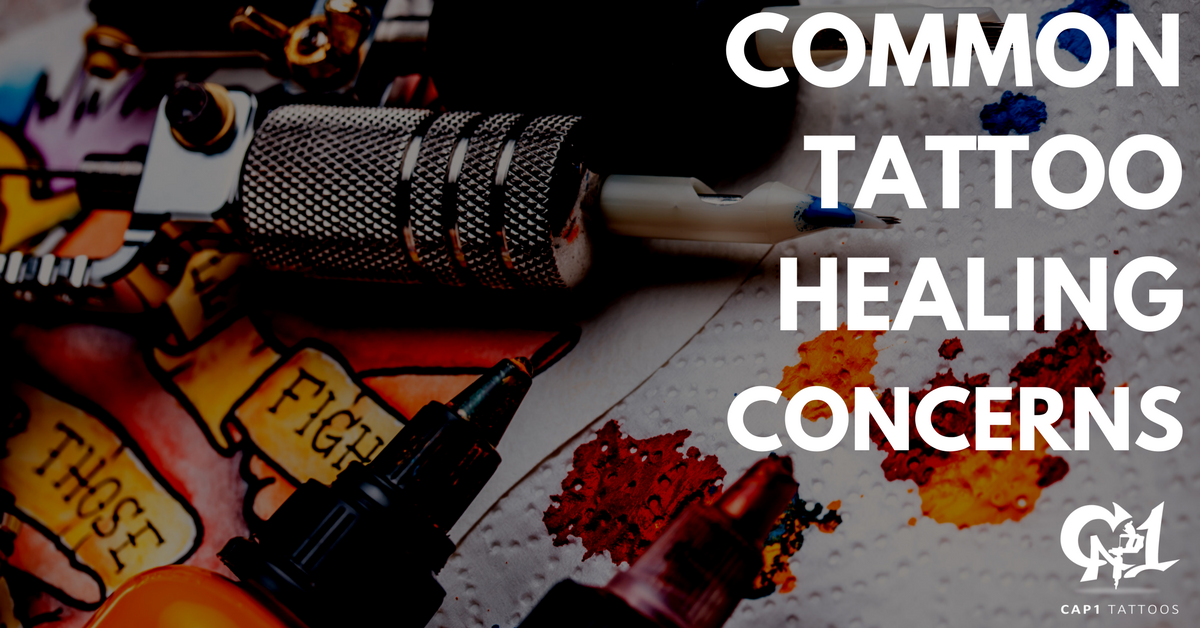 0a1c7b1285d52 Capone along with Cap1 Tattoos in Denton, Texas are sharing how to address  some of the most common tattoo healing concerns.