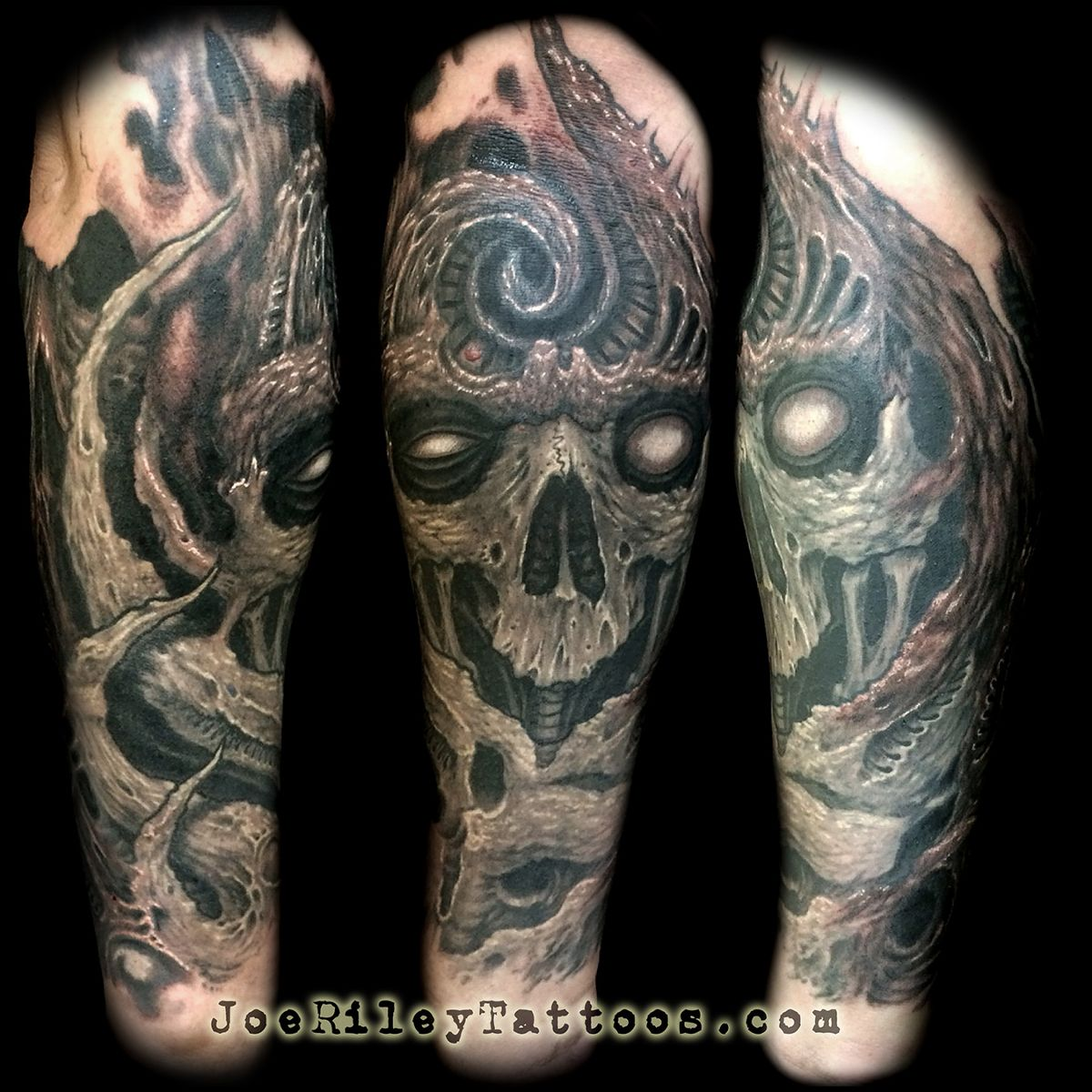 best las vegas tattoo artist, best las vegas tattoo shops, custom biomech tattoos, joe riley
