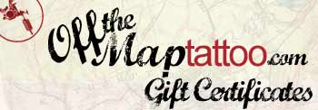 Off The Map Tattoo Gift Certificates
