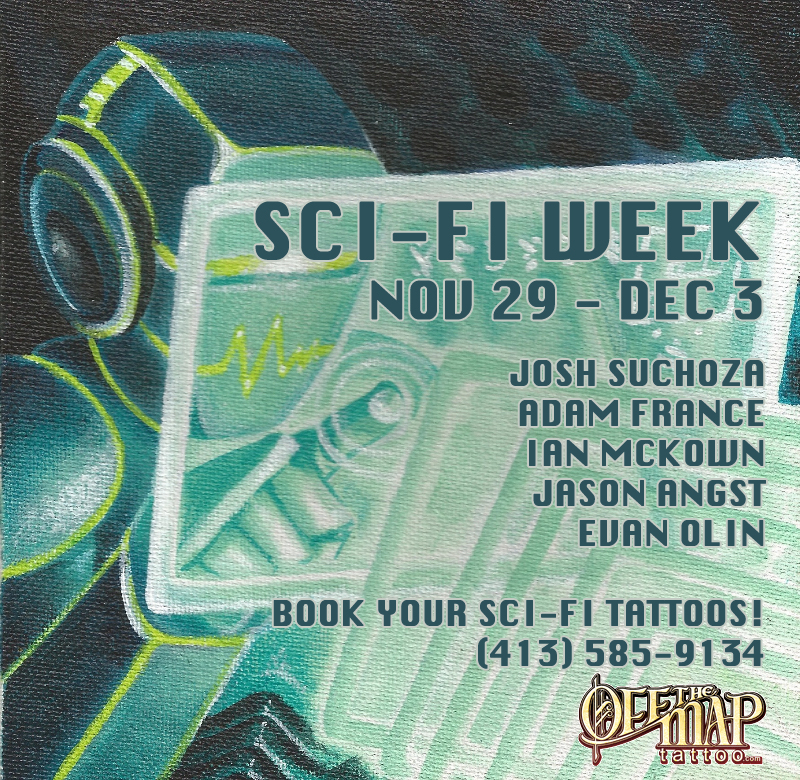 Sci Fi Week Off the Map Tattoo