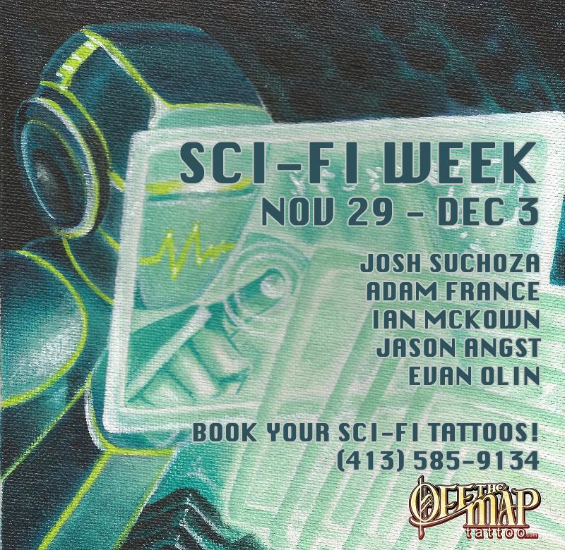 Sci Fi Week Off the Map Tattoo