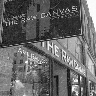 The Raw Canvas Tattoo Studio shop front