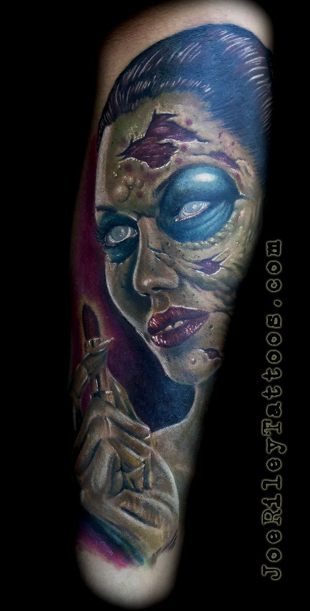 zombie tattoos, zombie girl, best las vegas tattoo artist, best tattoo shop in las vegas, las vegas tattoos, henderson tattoo shops