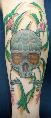 Gabriel Cece - landscape artist skull