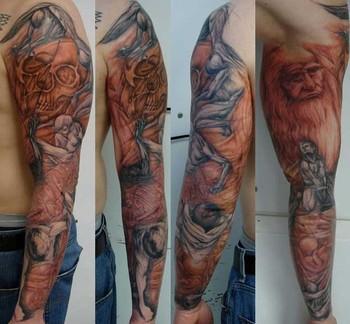 Gabriel Cece - davinci and hess sketchy sleeve
