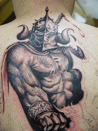 back piece tattoos. Warrior Backpiece