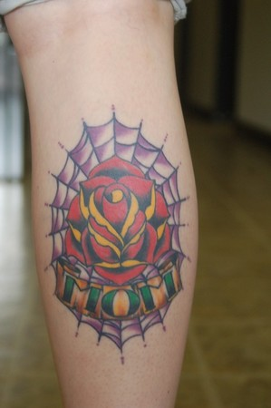 Tattoos - Traditional Mom rose - 41902