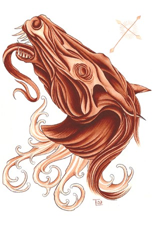 Tattoos - Apocalyptic horse painting - 39759