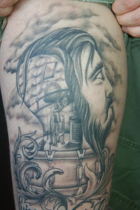 Tattoos - head with drum album cover - 76107