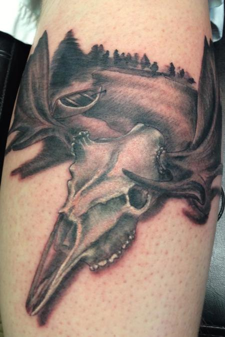 Tattoos - Moose Skull - 76110