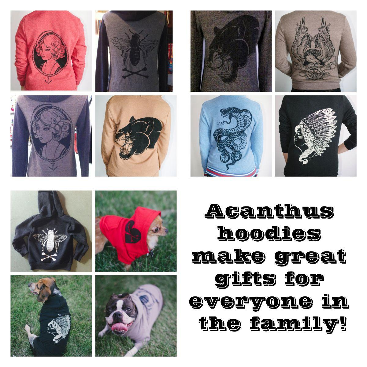 Acanthus hoodies