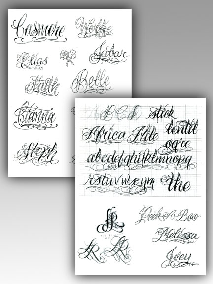 The BJ Betts Lettering Combo 5 Pack Tattoo Education :