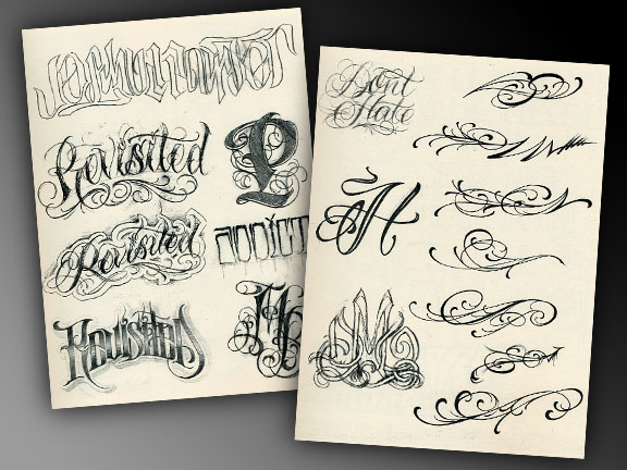 Images of Tattoo Lettering Books